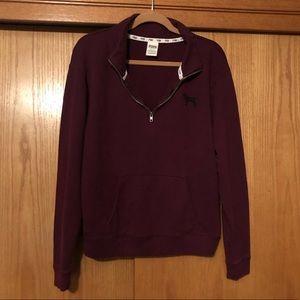 Victoria's Secret PINK Half-Zip Sweatshirt